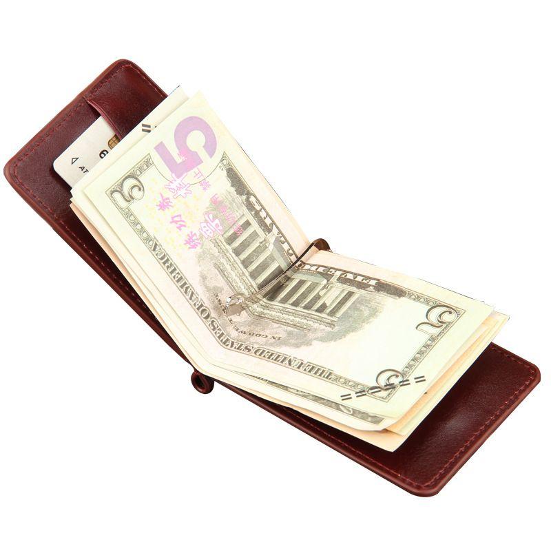 ID Clip Banknote Holder Slim Pocket Men Purse Wallet Cash Clamp Money Clip