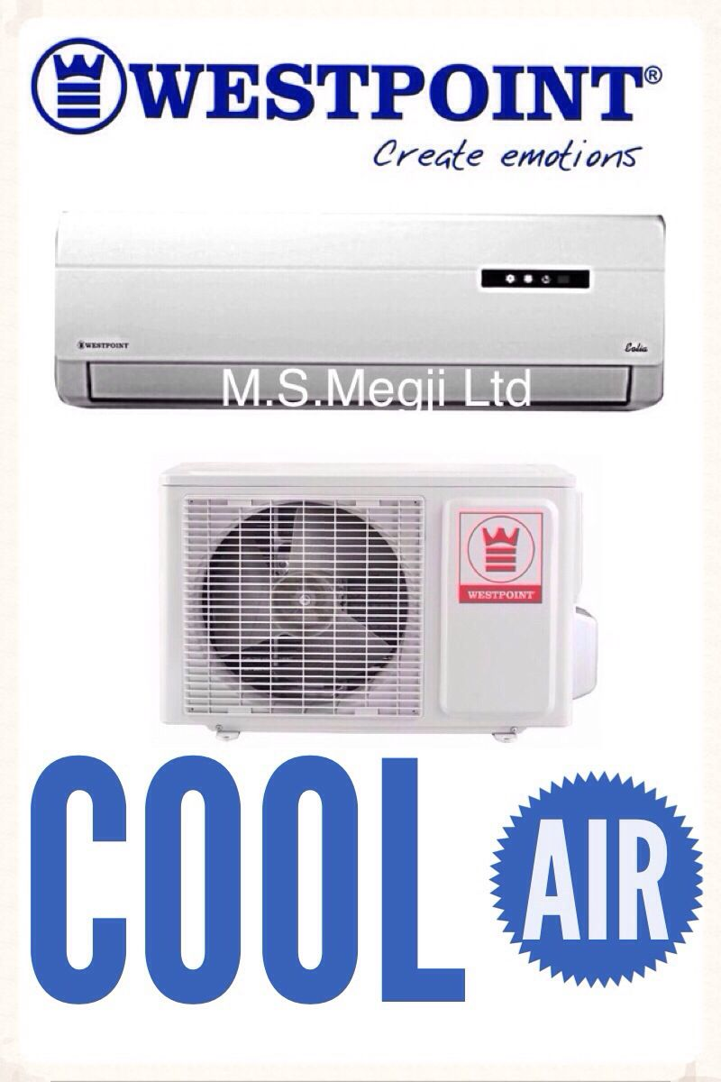 westpoint split wall air condition available in 9000btu 12000btu 24000btu free 3 meter copper [ 800 x 1200 Pixel ]