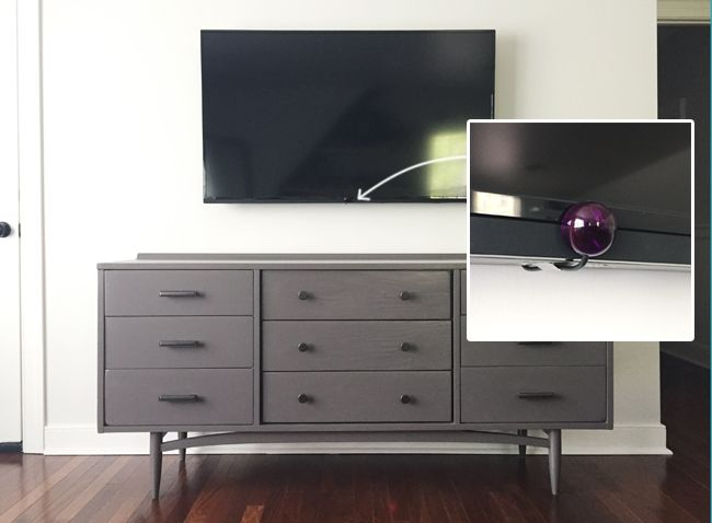 How To Hide Tv Wires For A Cord Free Wall Our Diy Projects Hide Tv Wires Hidden Tv House
