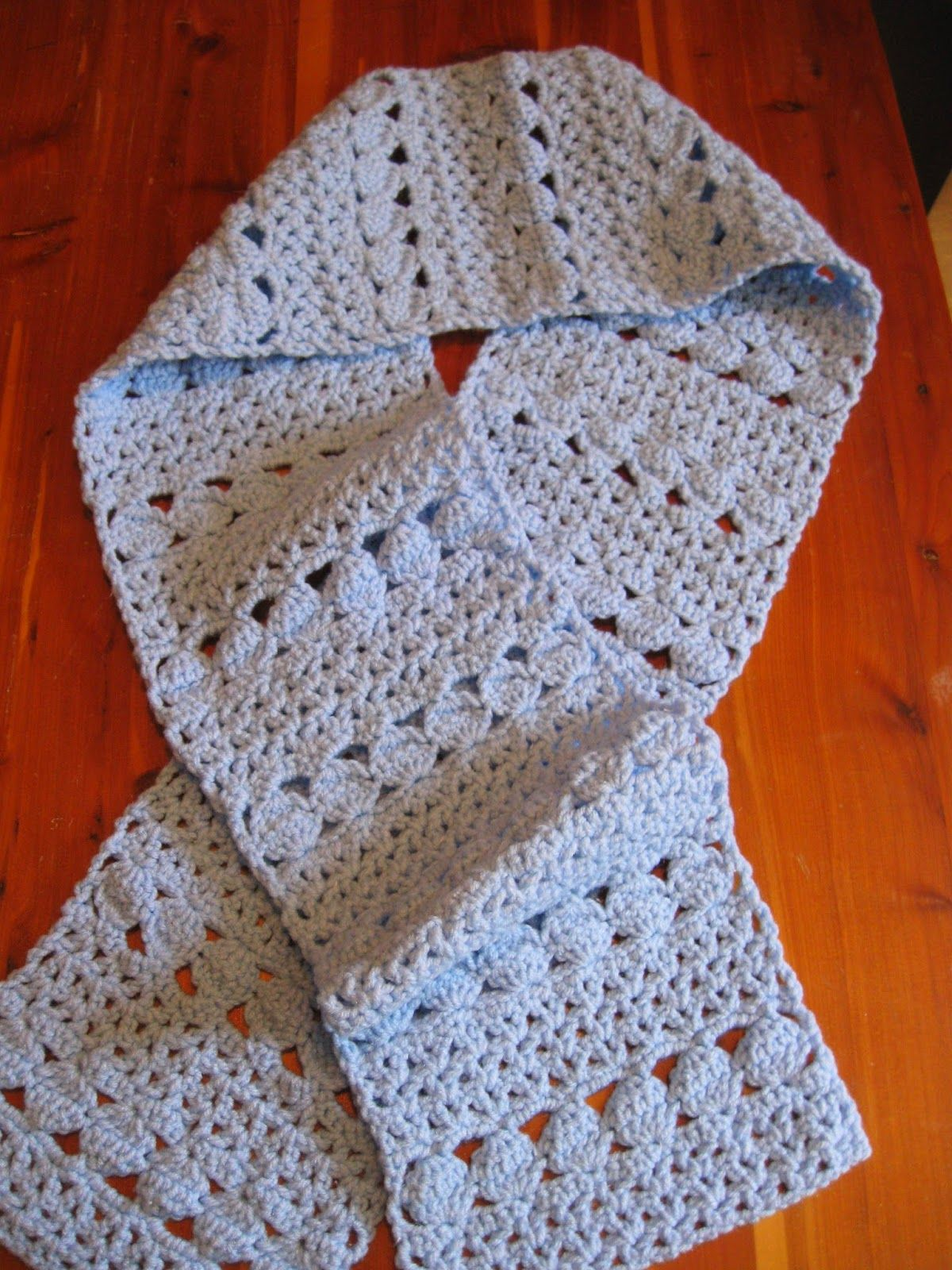 Haven Cottage Crafts: Cozy Blue Scarf | Web Patterns & Giveaways ...