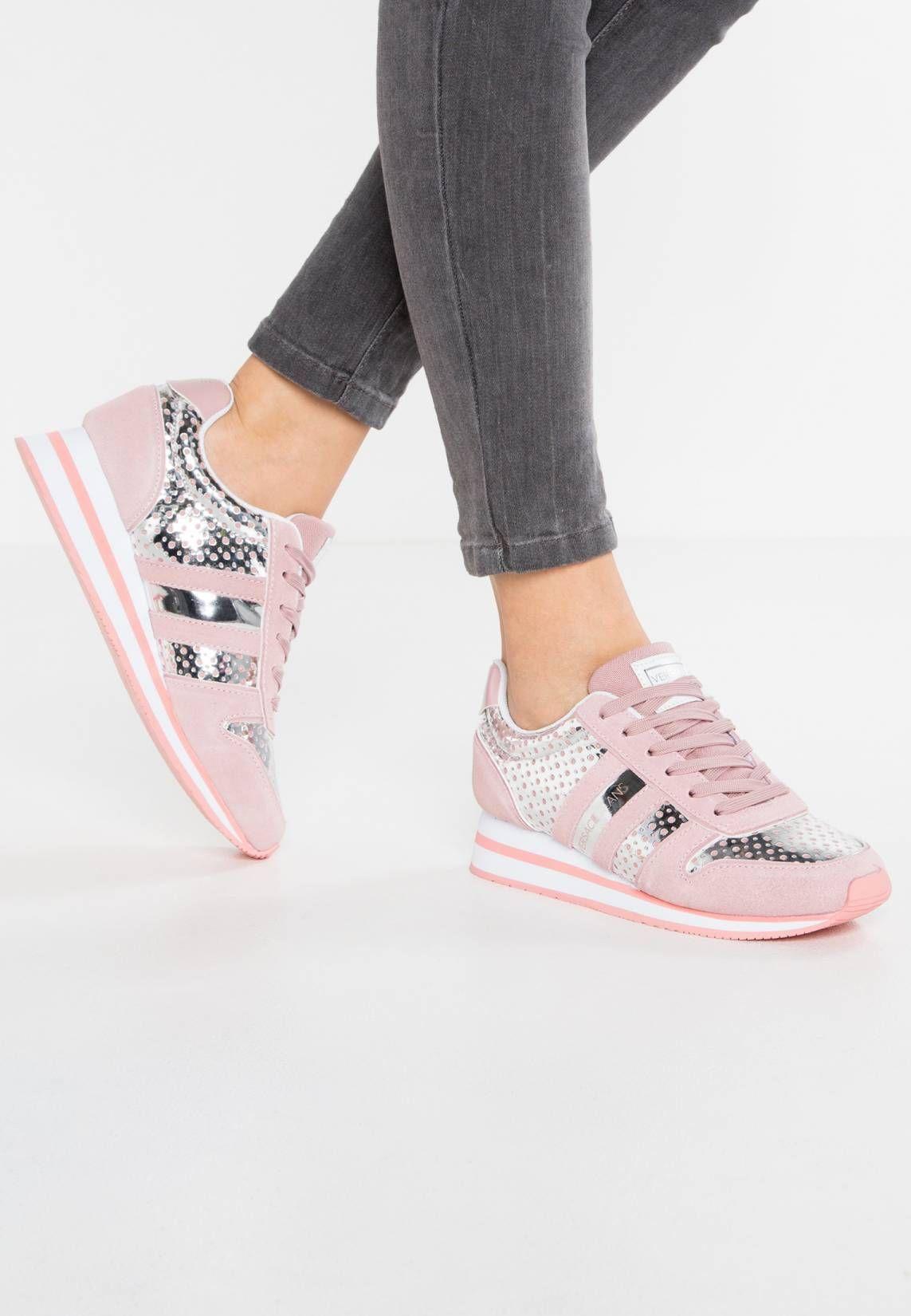 Versace Jeans. Sneakers basse rose. Fodera:senza