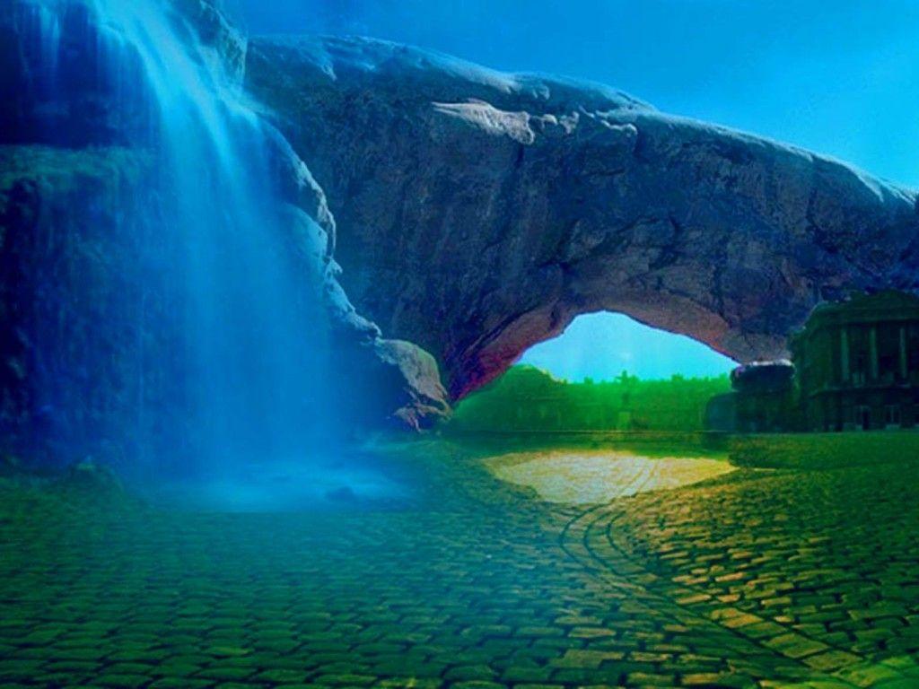 Fondo escritorio paisaje cascada fantasia wallpaper e for Imagenes bonitas para fondo de pantalla