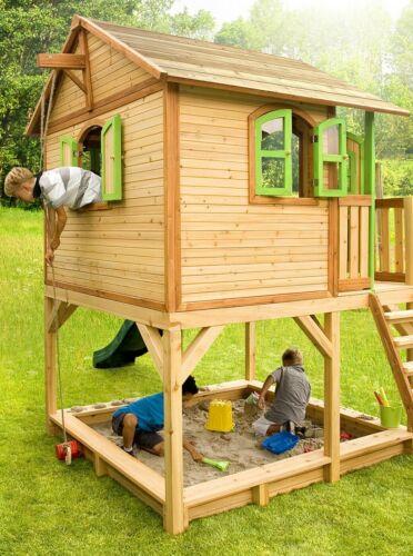 Kinderspielhaus Spielhaus Gartenhaus Spielhutte Aus Holz Fur Kinder 3376 Ebay Sandkasten Garten Kinder Spielhaus Garten Kinderspielhaus