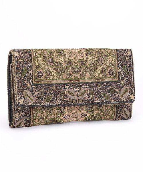 Another great find on #zulily! Derin Balsam Bark Flap Wallet by Derin #zulilyfinds