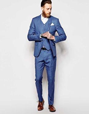 eng geschnittener anzug in blau hochzeitsanzug pinterest anz ge blau und hochzeitsanzug. Black Bedroom Furniture Sets. Home Design Ideas