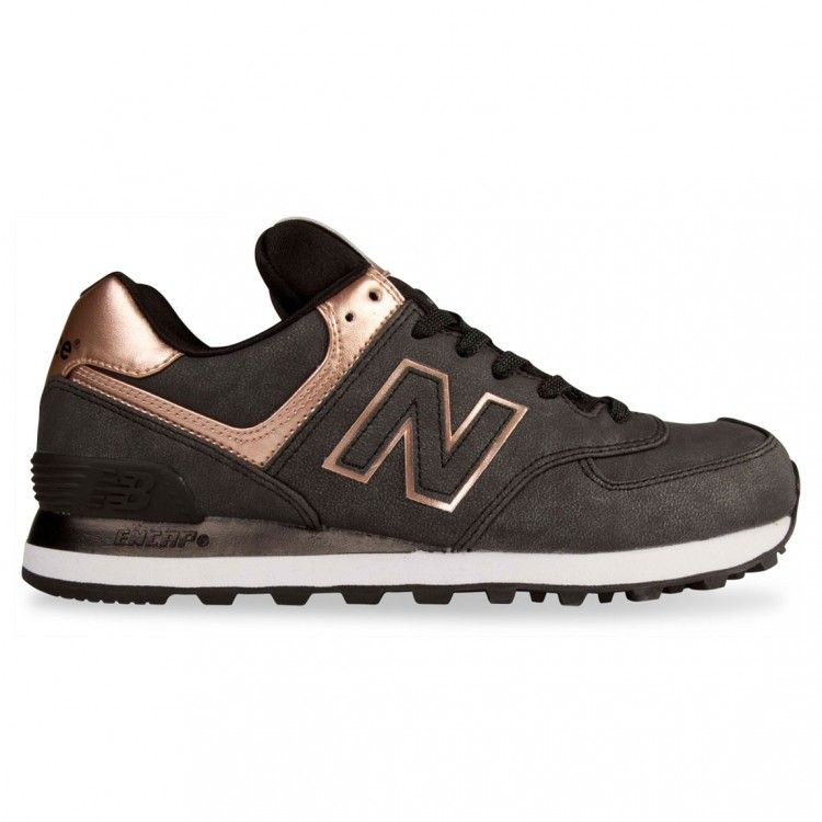 new balance 574 bronze metallic trainers