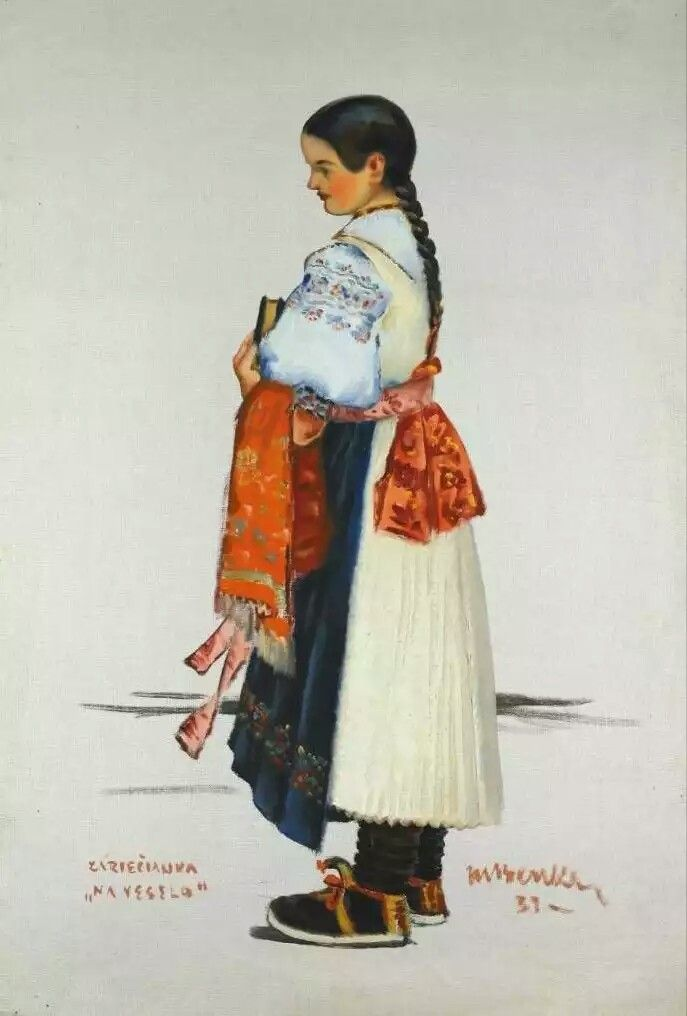 a88d55e0d slovak-folk-costumes: Folk clothing around Slovakia, from the book Naše  kroje by Viera Nosáľová and Jarmila Paličková. | kroje | Predškolské