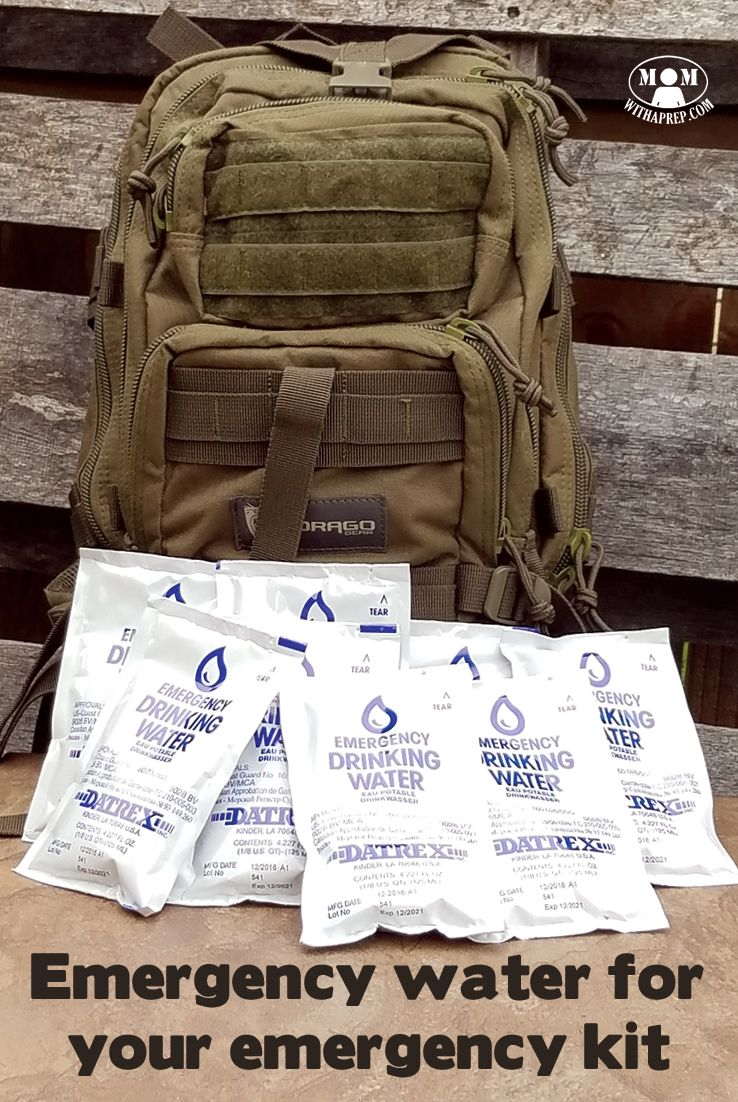 Emergency water in pouches for your bug out bags or 72 hour kits? It may seem weird, but it's a cool way to store water for when you desperately need it! Emergency Preparedness | water storage