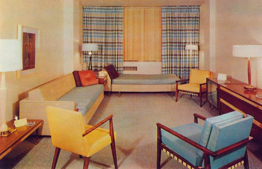 Decor became muted and pastels mixed with neutrals was a for 1960s decoration