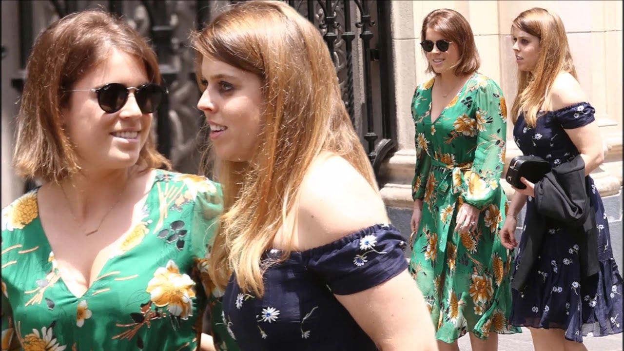 Princesses Eugenie and Beatrice looked beautiful in floral