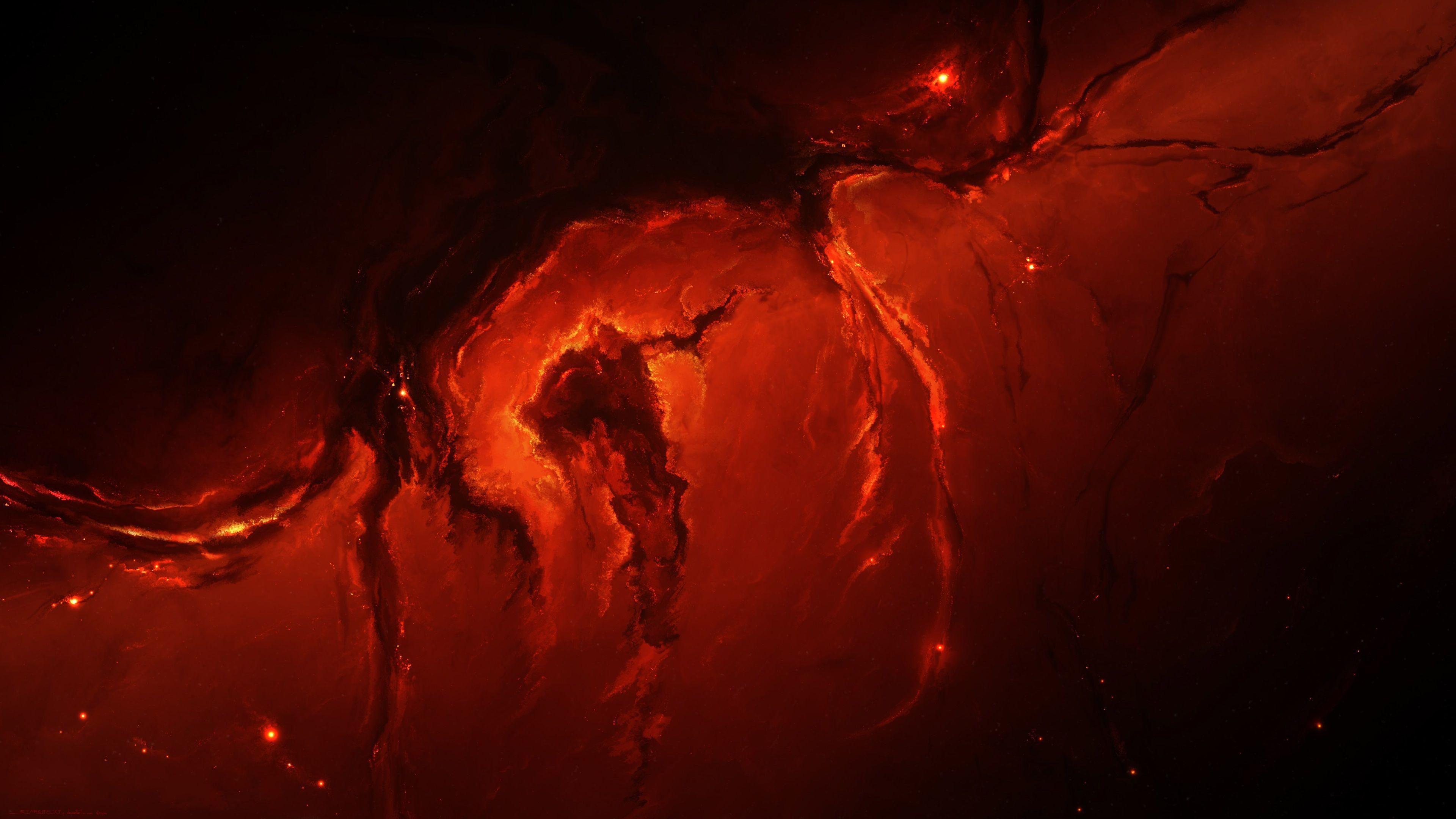 3840x2160 Fire 4k Background Wallpaper Nebula Wallpaper Space Art 4k Background