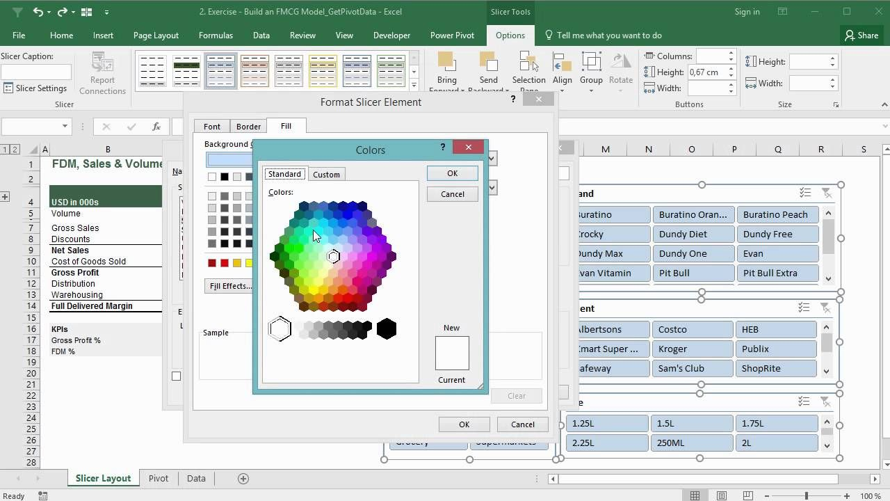 Create Great Looking Excel Slicers Professional Slicer