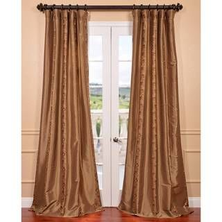 Luxembourg Bronze Embroidered Faux Silk Curtain | Overstock.com Shopping    Great Deals On EFF