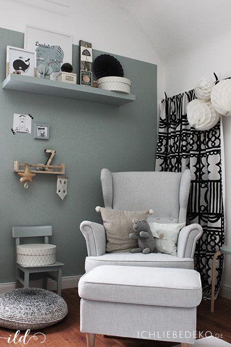 Trendfarbe Salbeigrün im Babyzimmer – jetzt kommt Farbe an die Wand • Ich Liebe Deko