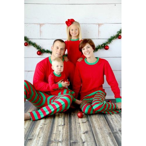 PRE-ORDER Personalized Adult Red and Green Christmas Pajamas- Sizes  small-Xlarge bb8ce3301
