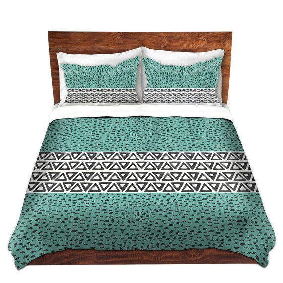Swedish Interiordesign: River Aqua Path Bed Duvet Cover In Gray And By