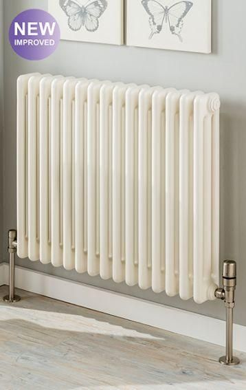 The Radiator Company Ancona 2 Column Radiator with Wall Brackets in White Cast Iron Radiators - : sectional radiators - Sectionals, Sofas & Couches