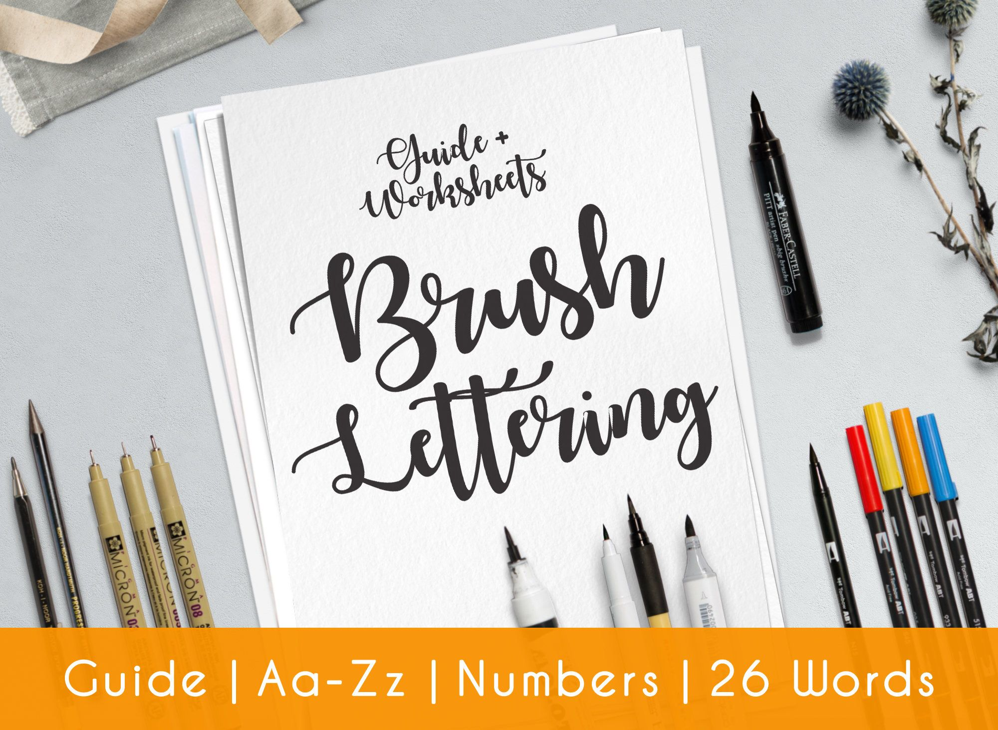 Hand Lettering Worksheet Learn Calligraphy With A