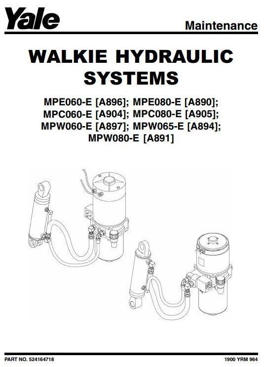Yale Pallet Truck MPE060E, MPE080E, MPW060E, MPW065E