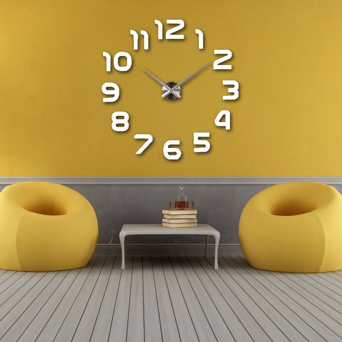 Wall Clock Sticker | Big wall clocks, Creative walls and Diy wall clocks