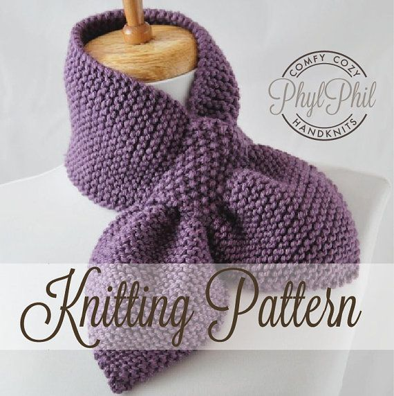 Knitting Pattern The Original Stay Put Scarf Pull Through