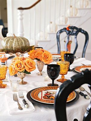56 Fun and Festive Halloween Party Decoration Ideas Spray painted - halloween table setting ideas