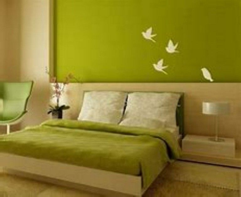 42 Wonderful Green Colors Accents To Your Home Decoration Simple Bedroom Bedroom Paint Design Home Decor