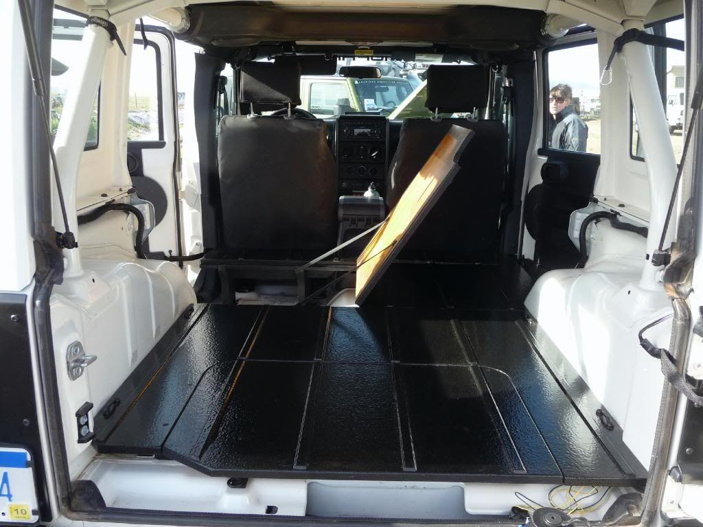 Camper Concept That Creates A False Floor Inside The