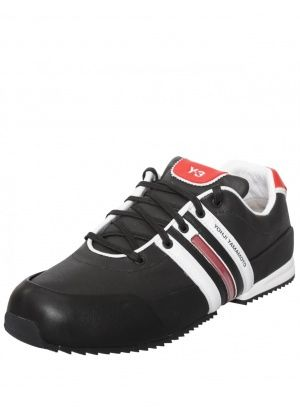 Y-3 SPRINT CLASSIC TEXTILE TRAINER BLACK/RED £210.00 #sneakers #trainers #sprint #y-3