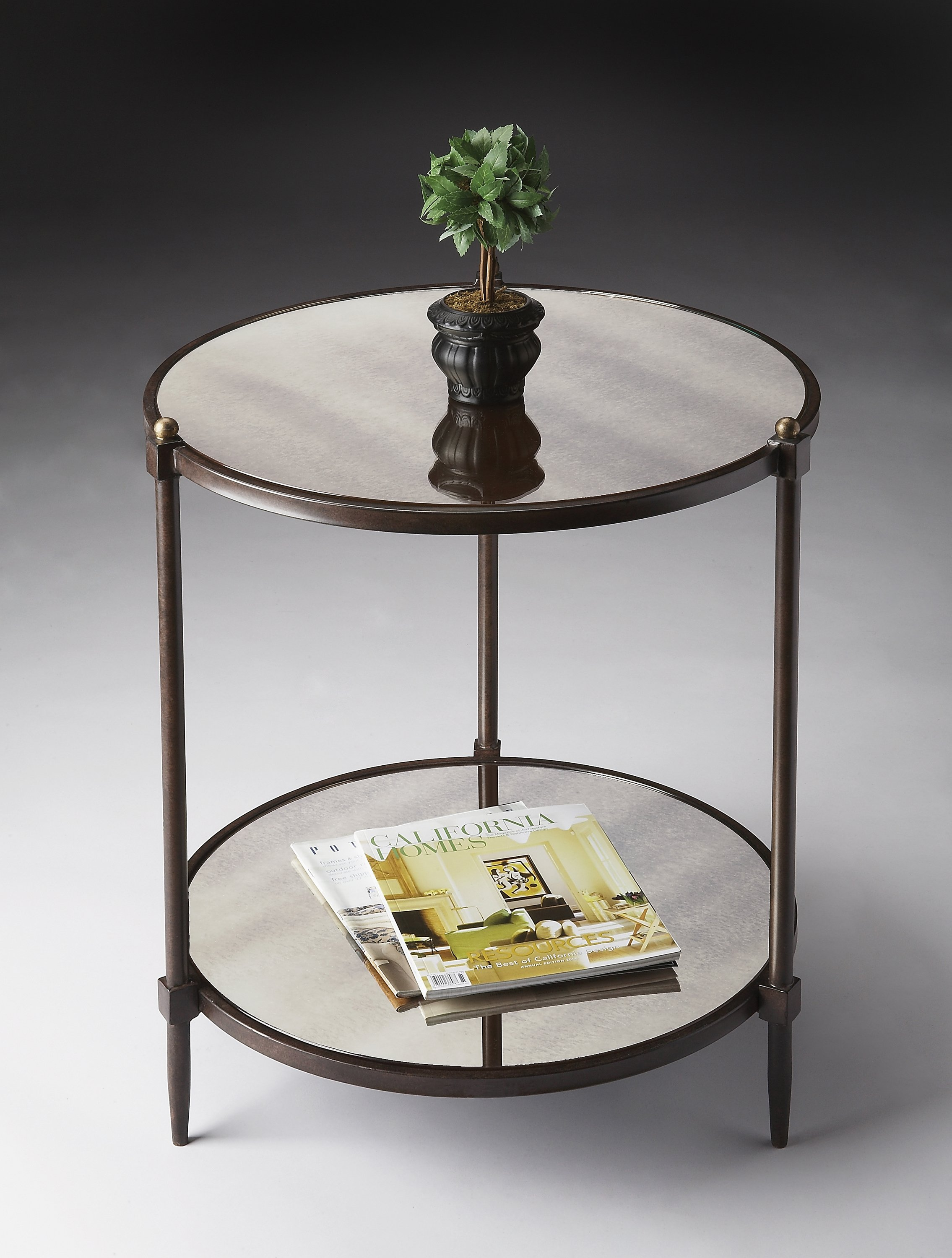 Peninsula Mirrored Side Table