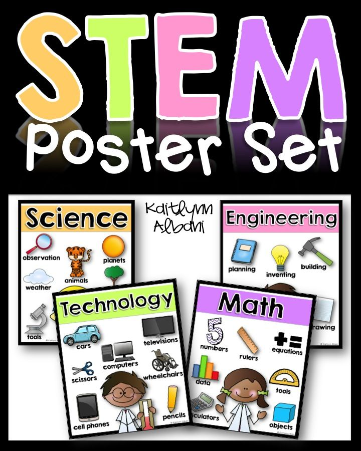 stem posters for elementary science technology engineering math stem elementary science. Black Bedroom Furniture Sets. Home Design Ideas