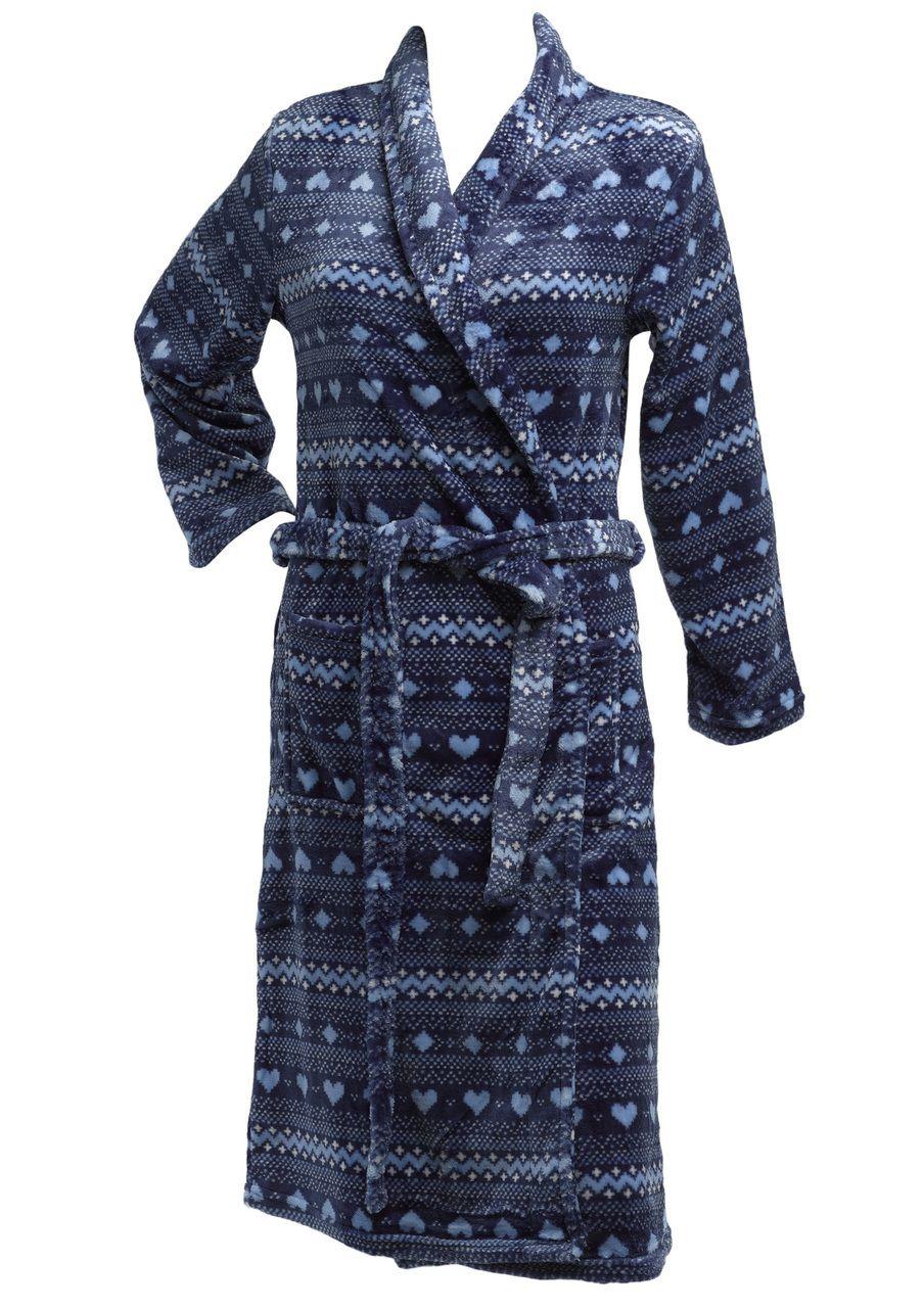 Ladies Polar Fleece Zip Front Dressing Gown Sizes 10-24
