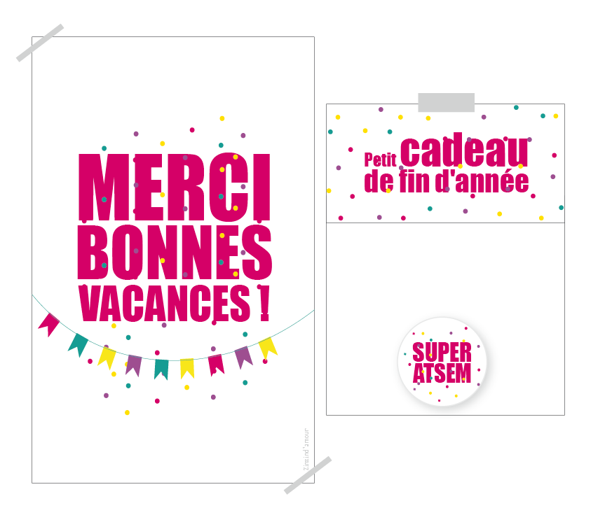 Image Of Cadeau De Fin D Annee Merci Et Bonnes Vacances Pour