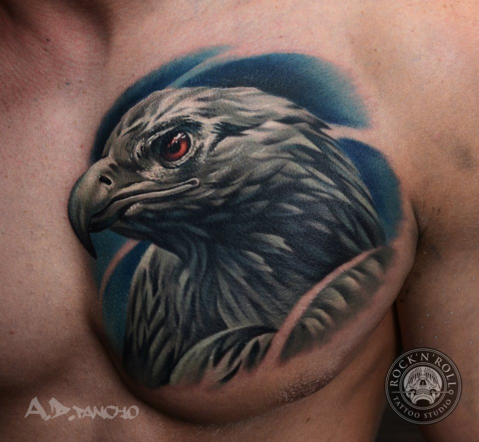 Eagle Chest Tattoo | Art for your skin | Eagle chest ...