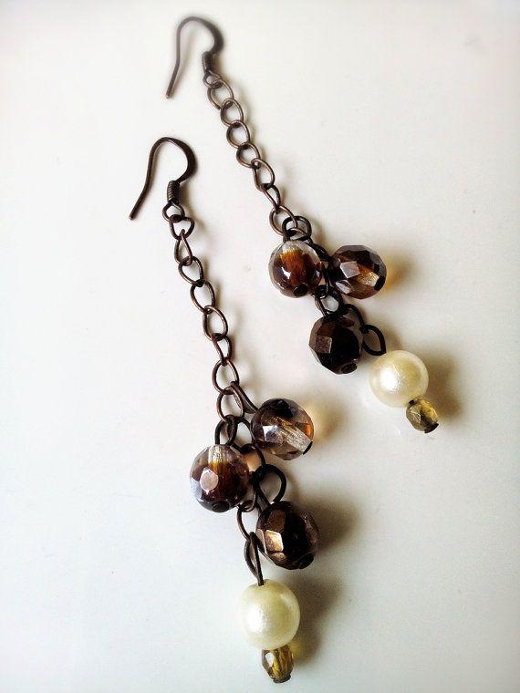 Handmade earrings JEWELRY SUMMER brown di MetamorfosiAmbulante, €8.00