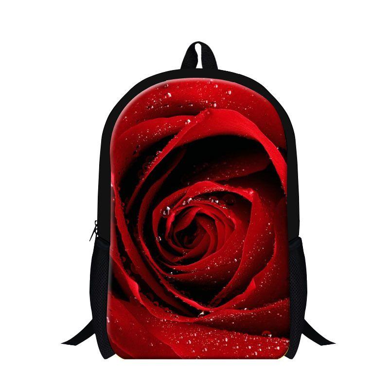 Personalized Flower Backpacks For Girls School3D Rose Sunflower Printing Bookbags Teenshigh
