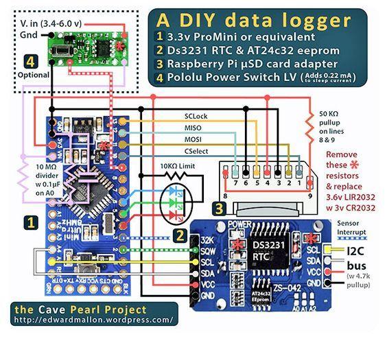 The Diy Arduino Datalogger With Low Power Shut Down Capability 2014 Elektroniken Esp8266 Arduino Und Lasercutter