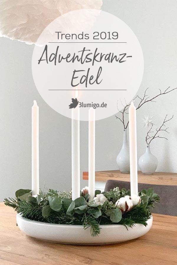 Die 5 Adventskranz-Trends 2019