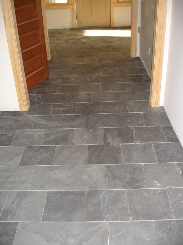 Flooring Appealing Slate Tile Entryway Designs In Running