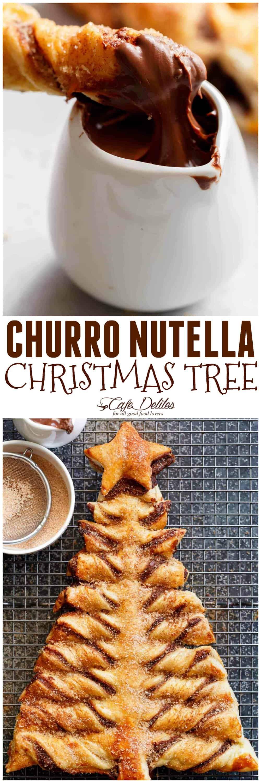 Photo of Amazing Churro Nutella Christmas tree – dessert recipes