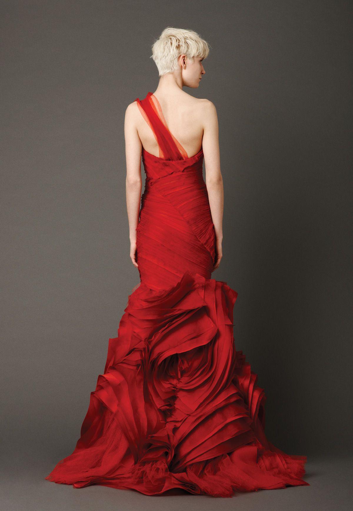 Red wedding dresses vera wang  Vera Wang  Spring   Just another Wedding board  Pinterest
