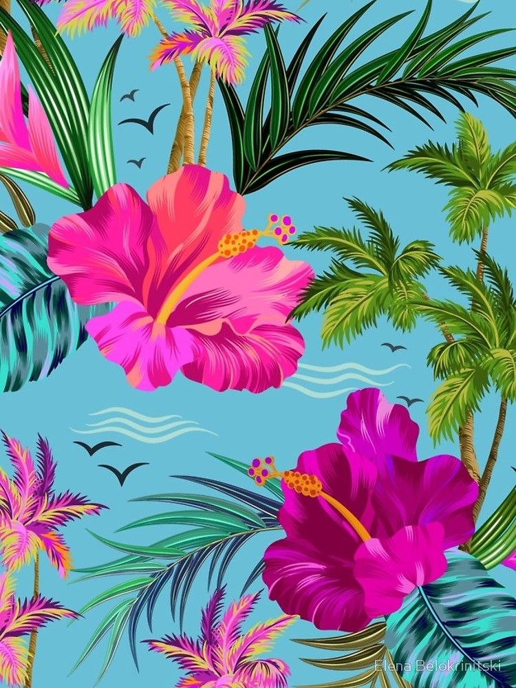 Design Tropical Wallpaper Flower Wallpaper Tropical Background Beautiful aloha hawaii wallpaper