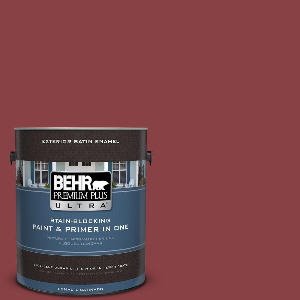 Bic 34 Winning Red Satin Enamel Exterior Paint 985301 The Home Depot
