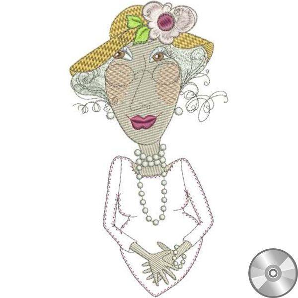 Pearla Appliqué Embroidery Design | CD