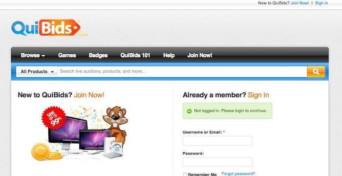 quibids login my account