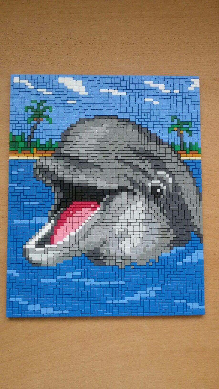 Ministeck Dolfijn Spetter Dolfijnen Patronen Kruissteek