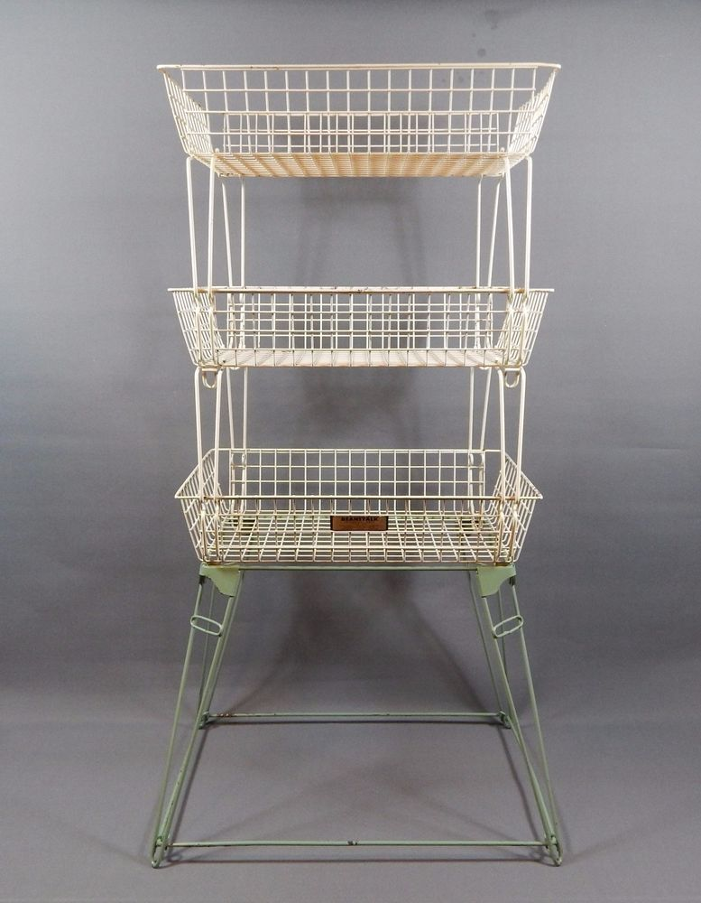 Antiques Other Architectural Antiques Set Of 4 Industrial Galvanised Stacking Trays Wine Rack Evident Effect