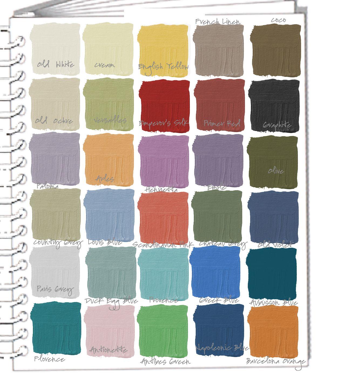 Colorways Swatchbook Annie Sloan Chalk Paint Colors Ascp Annie