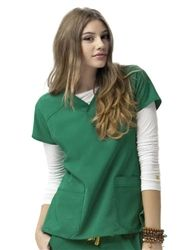 0eec34820d9 WonderWink 6214 - Sporty 2-Pocket Tops Available in 17 colors at  SCRUBS.com. High Performance, Seriously Low Maintenance workwear.