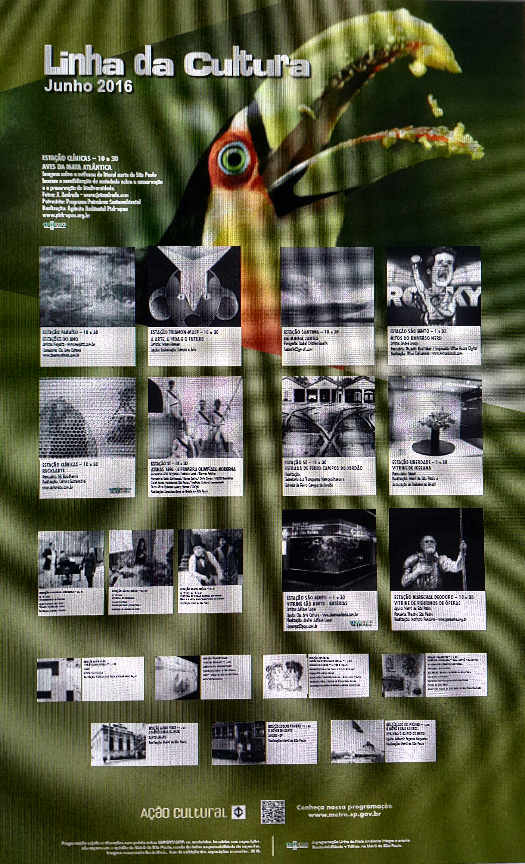 Cartaz do Metrô - Mês de Junho